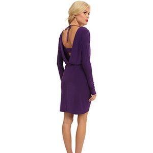 🆕 T-bags Los Angeles Front Knot Deep V-Back Dress